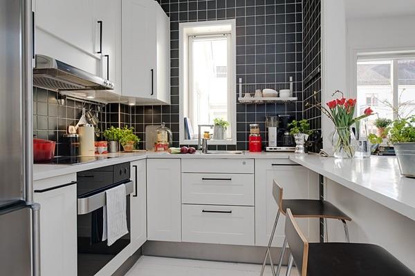 Căn bếp sang trọng cho nhà phố chật hẹp