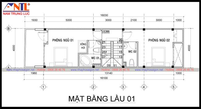 Mẫu thiết kế nhà 1 tầng 1 tum đẹp- Nhà phố Sài Gòn