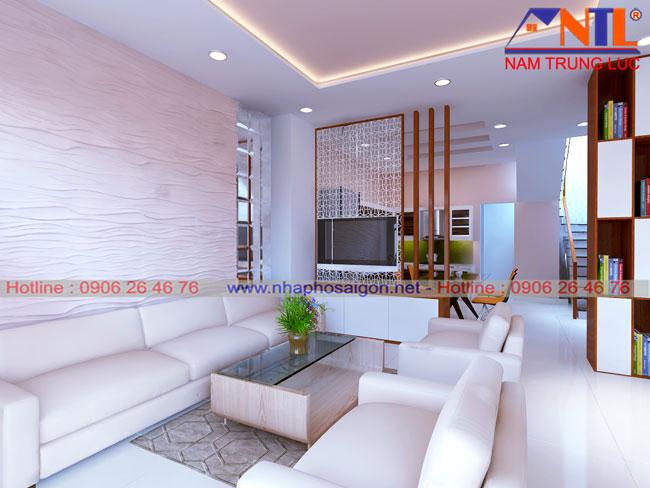 Thiết kế nội thất phòng khách - Nhà Phố Sài Gòn
